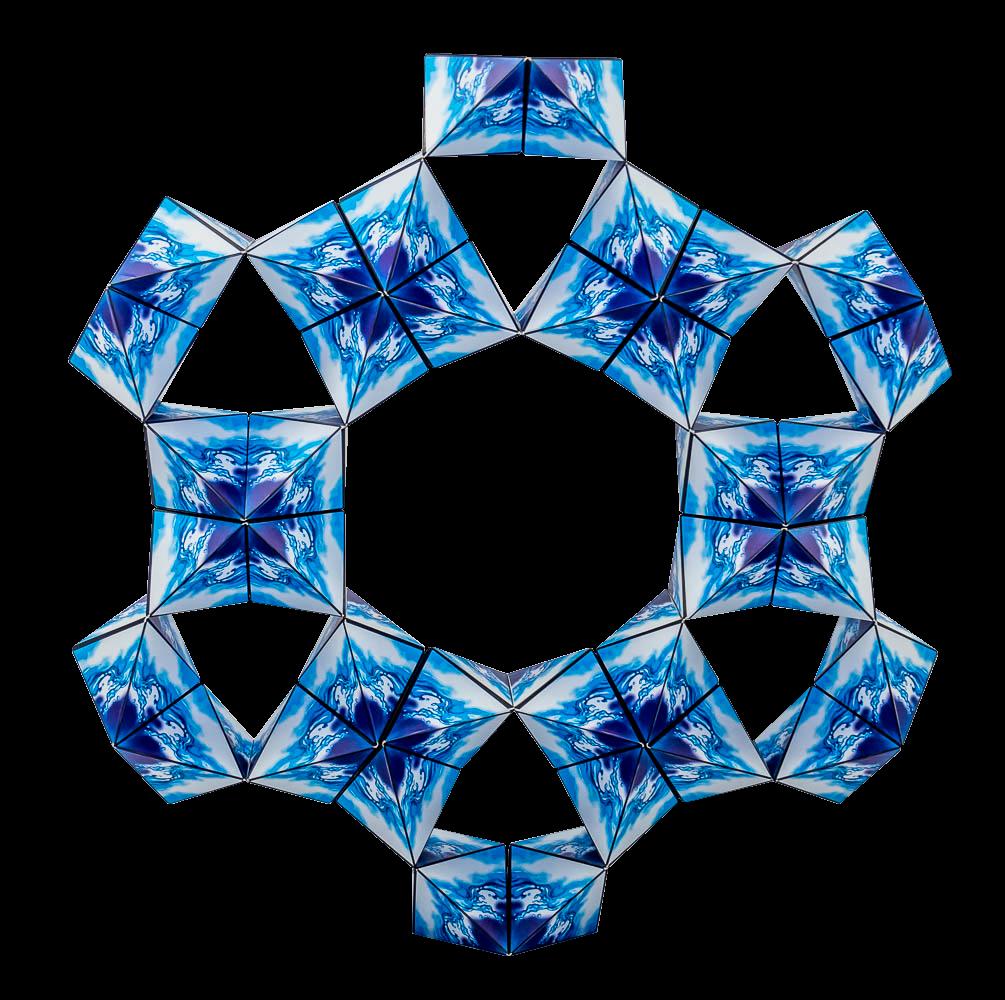 12 Geobender Nautilus zur Schnessflocke kombiniert